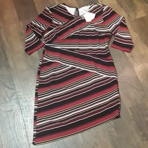 ECI NWT SIZE XL MULTI COLORED STRIPED DRESS